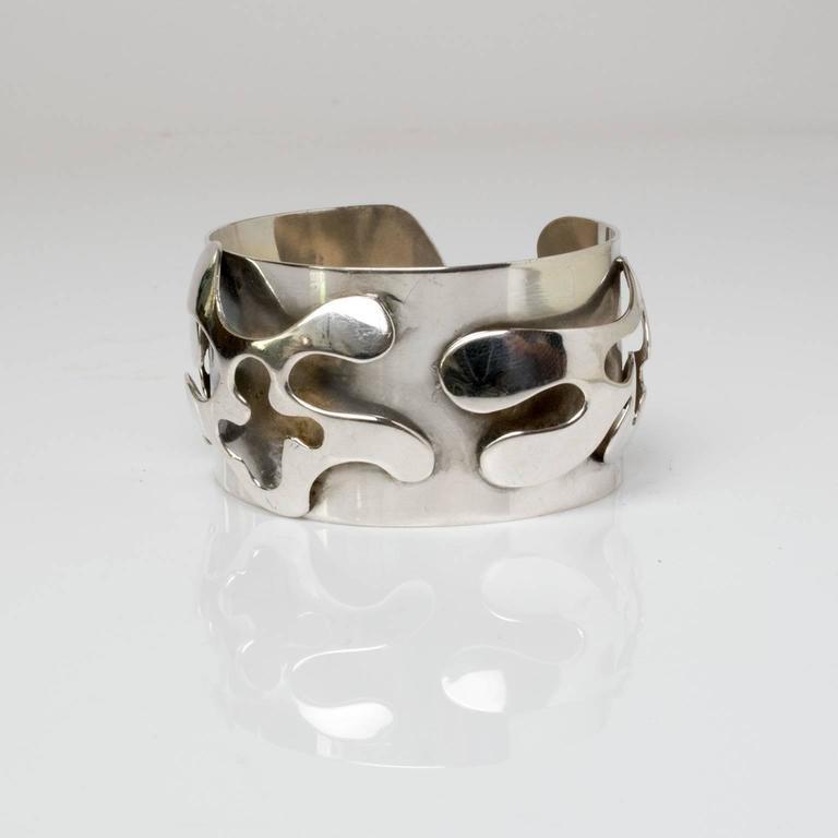 Scandinavian Modern Silver Bracelet, Henry Marius Jacobsen Bracelet Copenhagen, In Excellent Condition For Sale In New York, NY