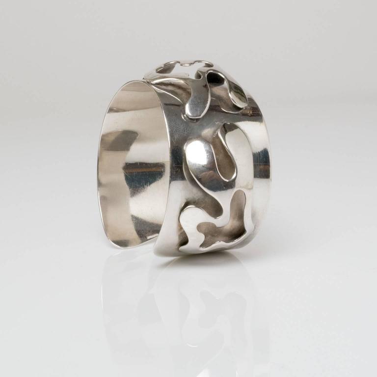 20th Century Scandinavian Modern Silver Bracelet, Henry Marius Jacobsen Bracelet Copenhagen, For Sale