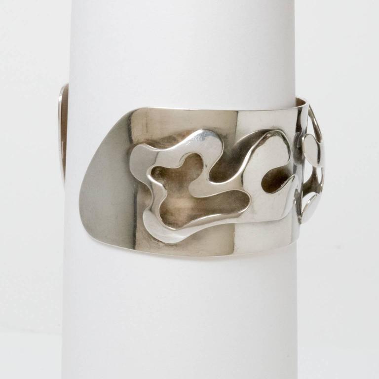 Scandinavian Modern Silver Bracelet, Henry Marius Jacobsen Bracelet Copenhagen, For Sale 3