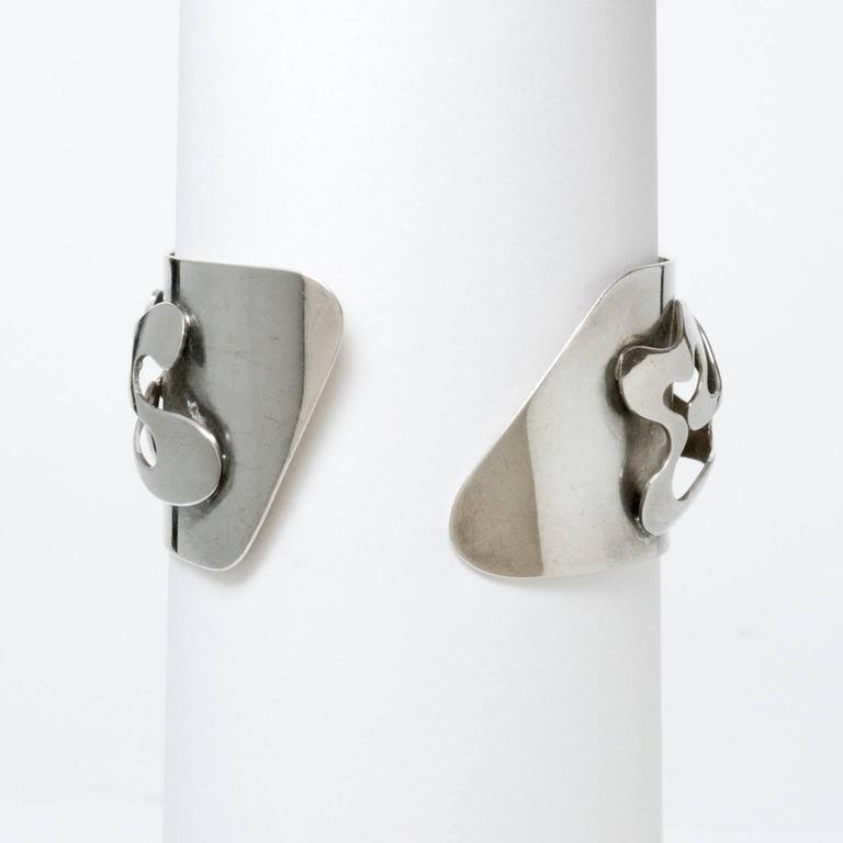 Scandinavian Modern Silver Bracelet, Henry Marius Jacobsen Bracelet Copenhagen, For Sale 4