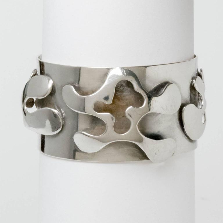 Scandinavian Modern Silver Bracelet, Henry Marius Jacobsen Bracelet Copenhagen, For Sale 2