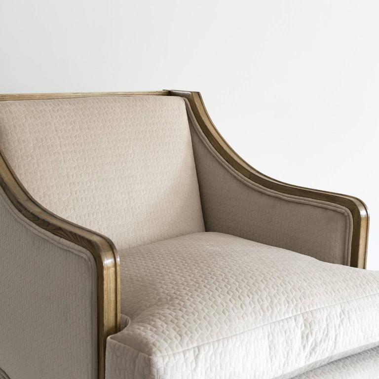 Elegant Pair of Swedish Art Deco Armchairs in Solid Elm and Rosewood Veneer For Sale 2