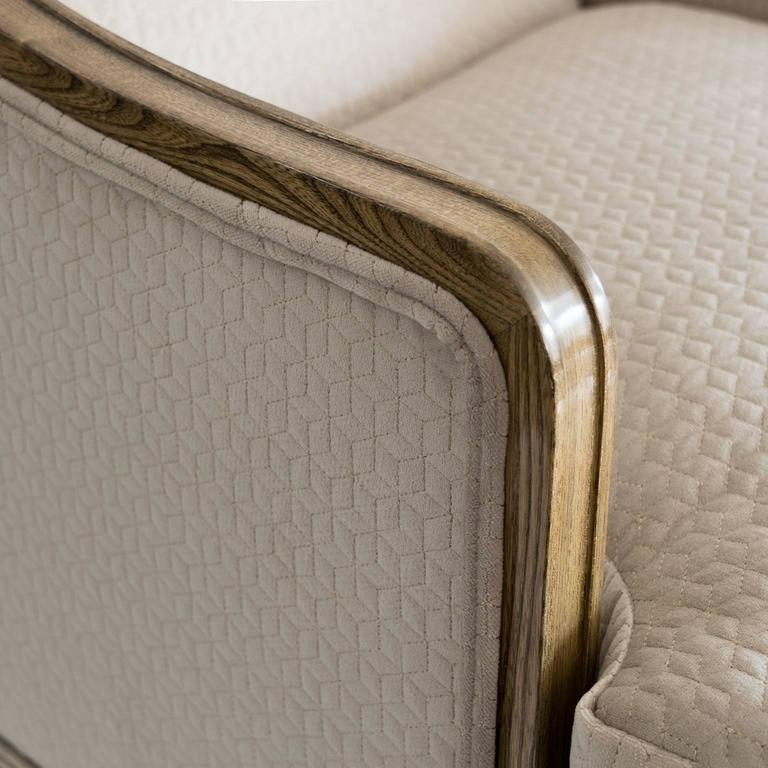 Elegant Pair of Swedish Art Deco Armchairs in Solid Elm and Rosewood Veneer For Sale 4