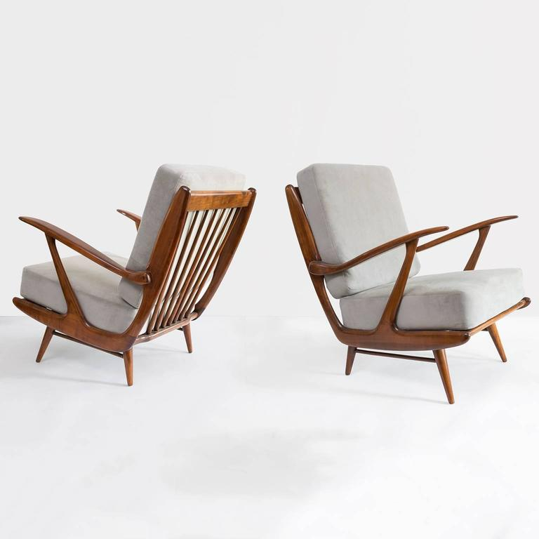 Awesome Dutch Mid Century Modern Carved Armchairs By B Spuijs B Gmtry Best Dining Table And Chair Ideas Images Gmtryco
