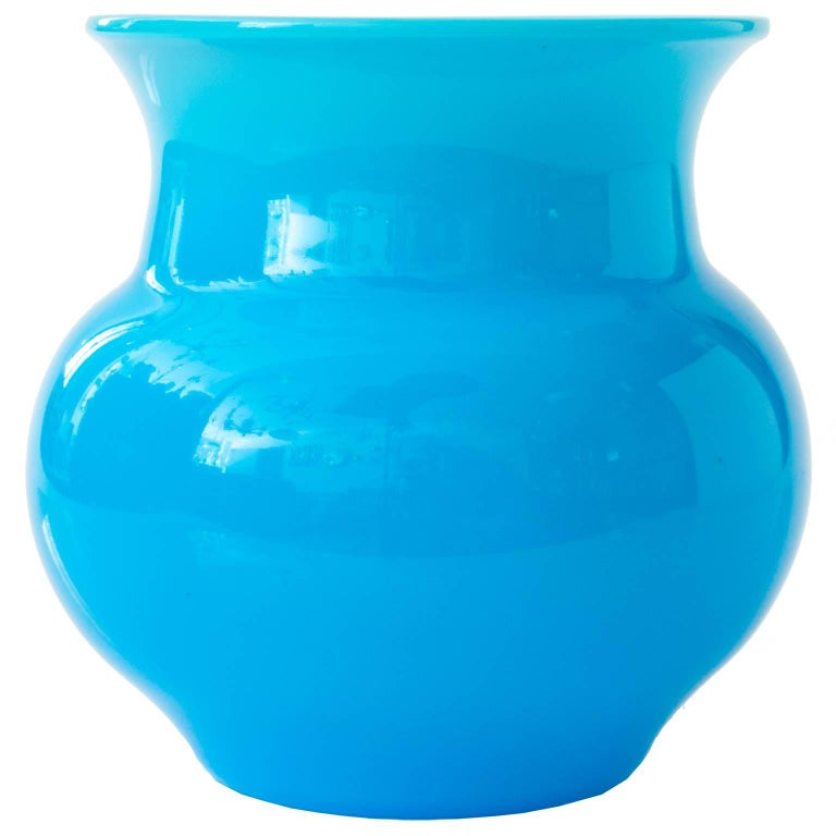 Erik Hoglund Vibrant Blue Glass Vase for Boda, Sweden