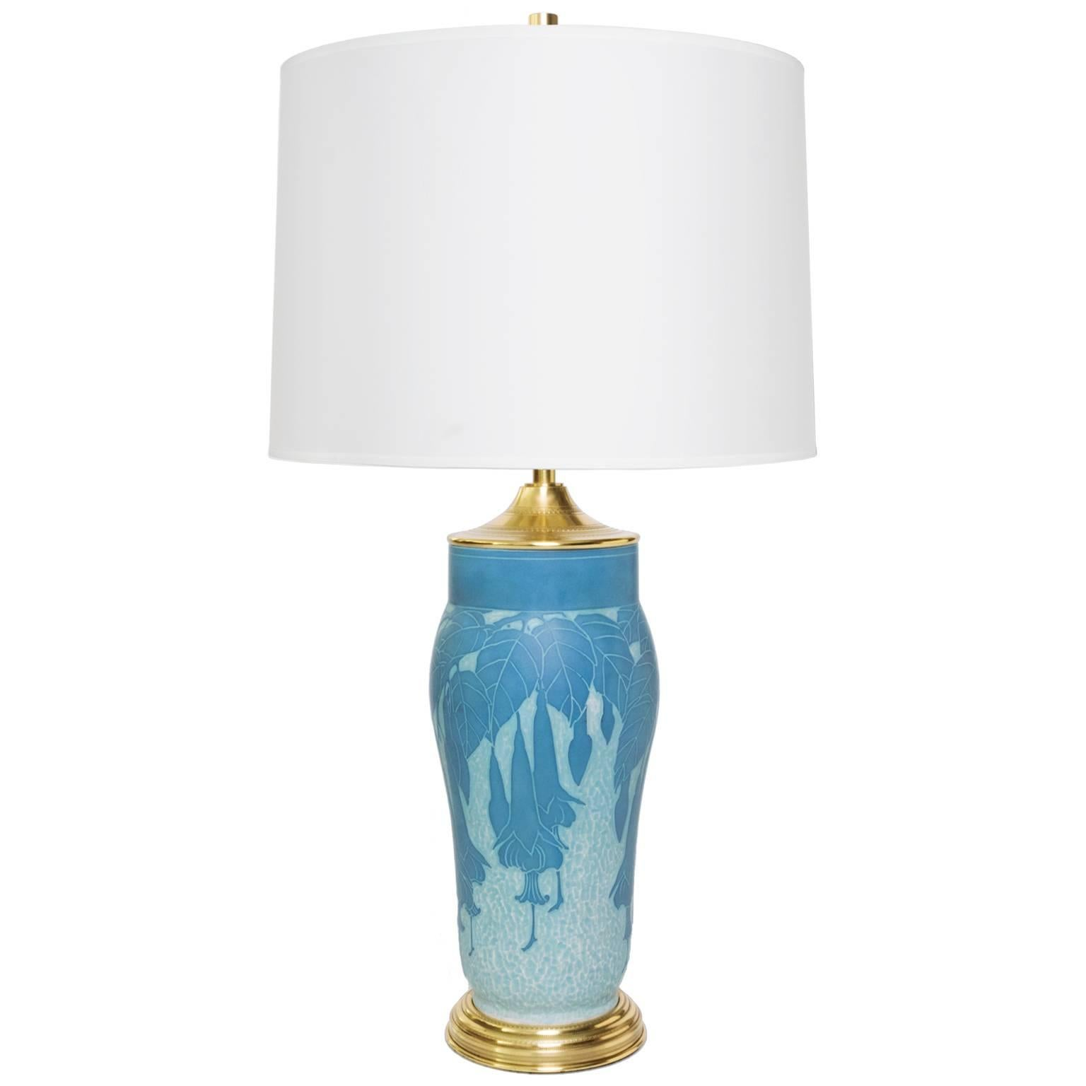 "Scandinavian Modern ""Scraffito"" Lamp by Josef Ekberg"