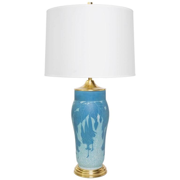 "Scandinavian Modern ""Scraffito"" Lamp by Josef Ekberg For Sale"