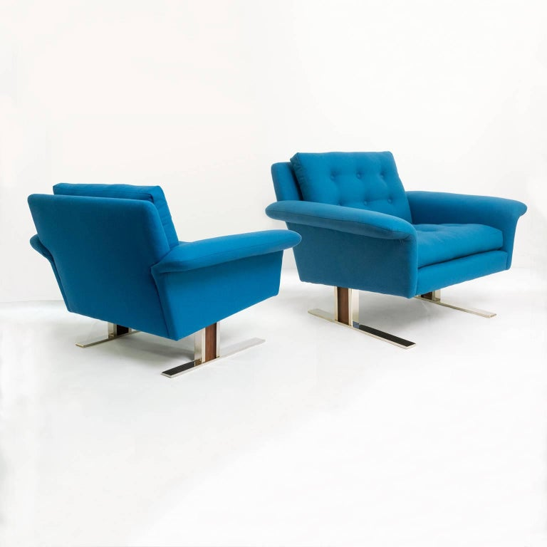 Pair of Scandinavian Modern Chairs by Johannes Andersen for AB Trensums, Sweden 8