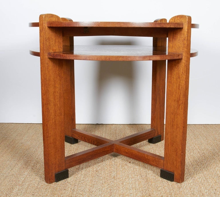 1930 hair styles 1930s modernist oak side table with shelf image 6 8457