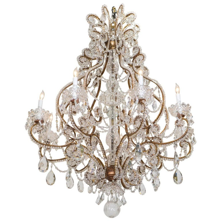 Belle Epoque French Crystal Chandelier For Sale