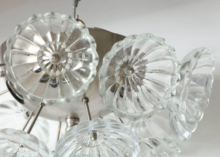 Scandinavian Modern Flower Glass Sputnik Flush Mounts, Sconces For Sale