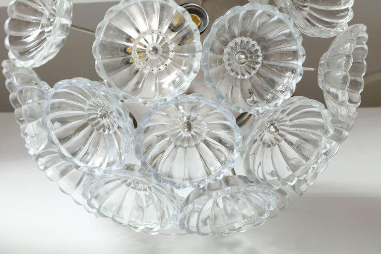 20th Century Flower Glass Sputnik Flush Mounts, Sconces For Sale