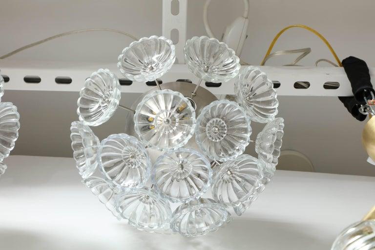 Murano Glass Flower Glass Sputnik Flush Mounts, Sconces For Sale