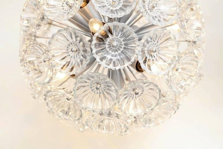 Flower Glass Sputnik Flush Mounts, Sconces For Sale 2
