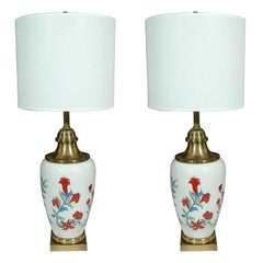 Chapman Hand-Painted Porcelain Lamps