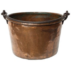 19th Century Copper Cauldron/Log Holder