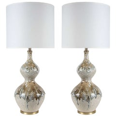 Italian Drip Glazed Ceramic Lamps