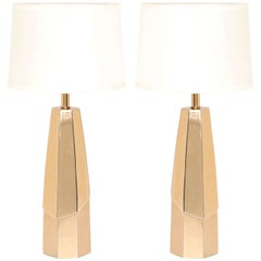 Laurel Polished Brass Lamps