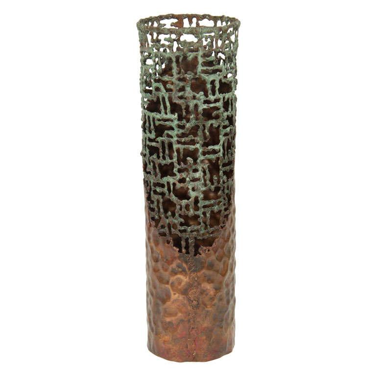 Fantoni Hammered Copper Vessel