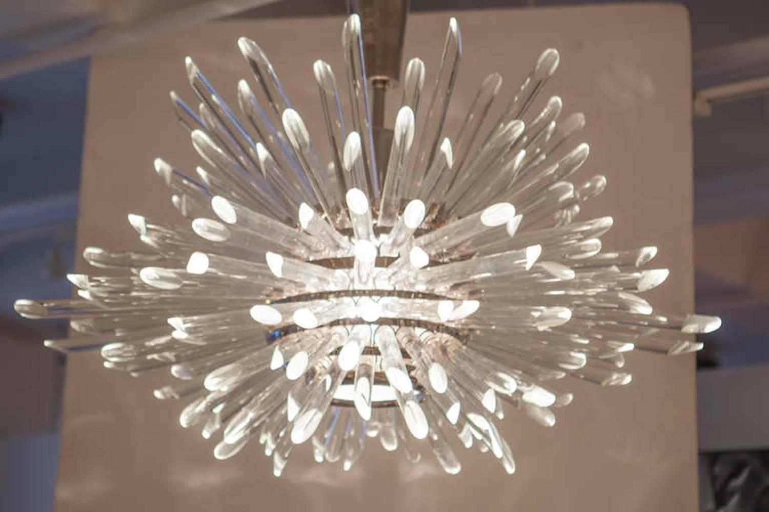 Glass rod miracle sputnik chandelier for sale at 1stdibs for Contemporary chandeliers and pendants