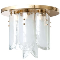 Kalmar Brass and Glass Flush Mount