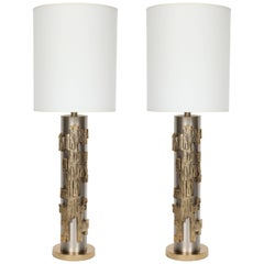 Brutalist Column Form Lamps