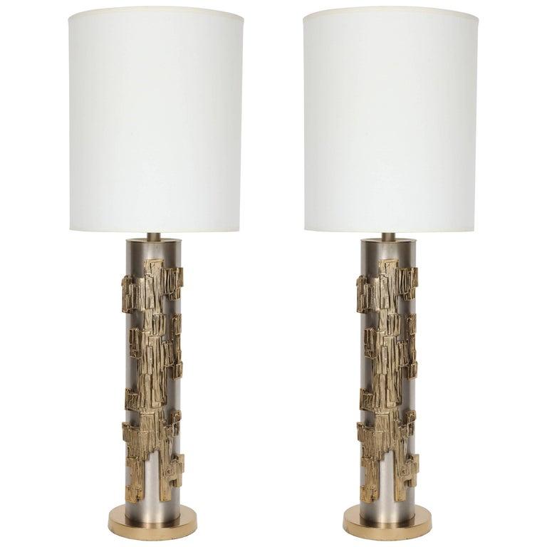 Brutalist Column Form Lamps
