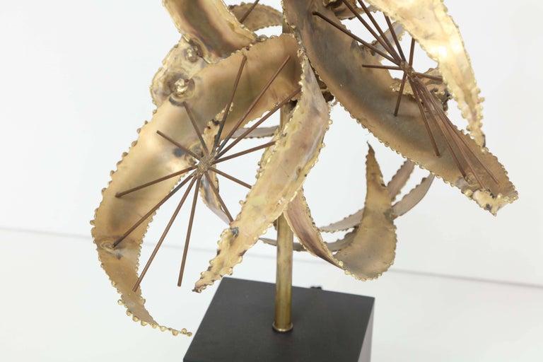 20th Century Bijan for Laurel Brutalist Brass Lamps For Sale