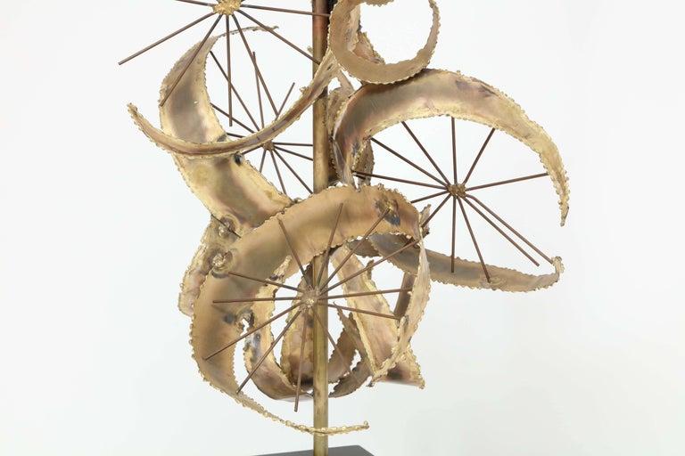 Bijan for Laurel Brutalist Brass Lamps For Sale 3