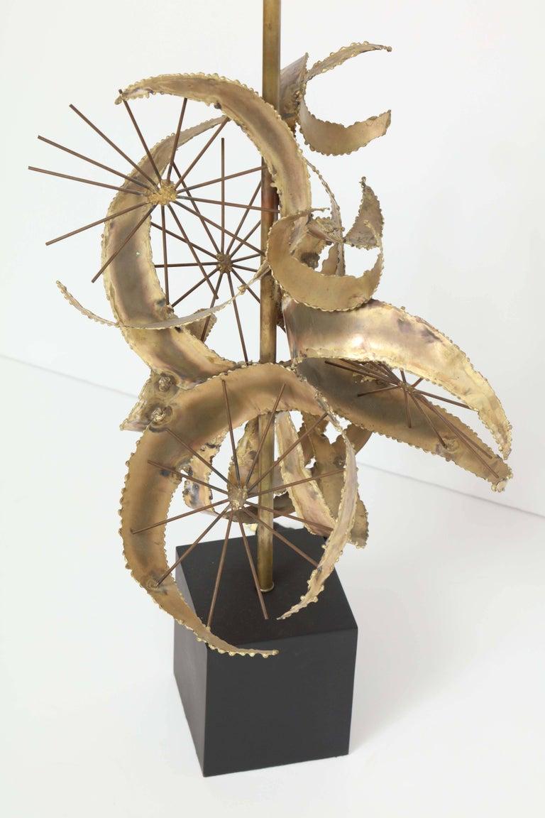 Bijan for Laurel Brutalist Brass Lamps For Sale 4