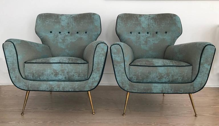 Pair of Italian Armchairs from 1950s 2
