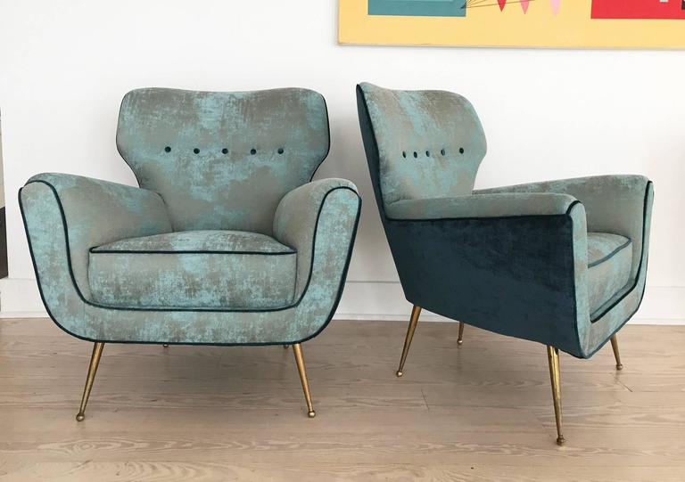 Pair of Italian Armchairs from 1950s 5