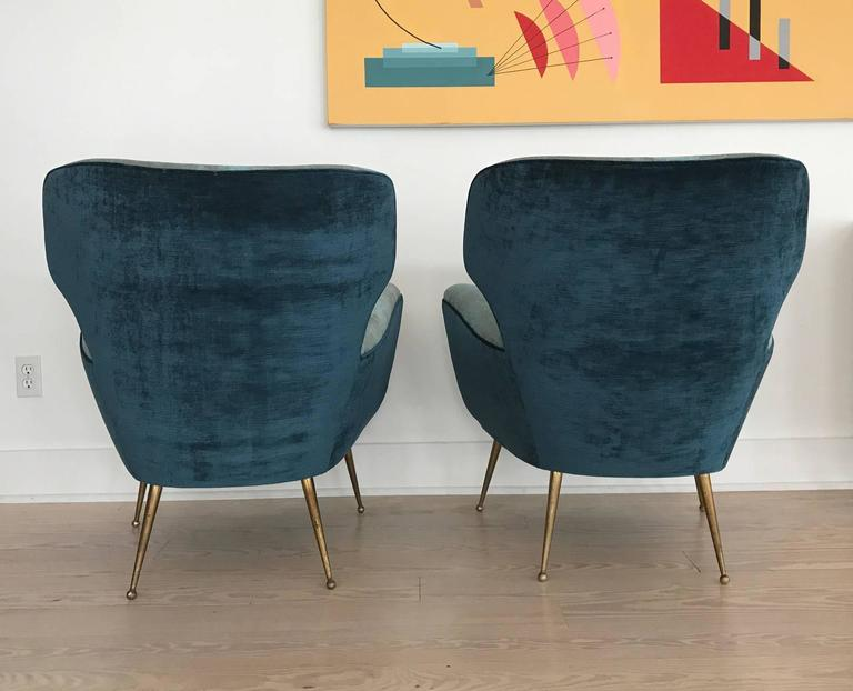 Pair of Italian Armchairs from 1950s 6