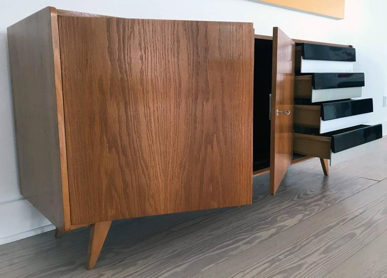Mid-Century Modern Ash Wood Sideboard For Sale