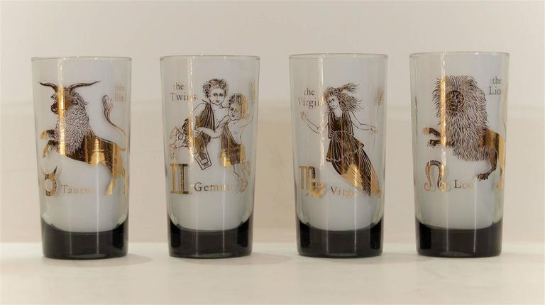 Complete Set of Federal Glass Zodiac Tumblers 4