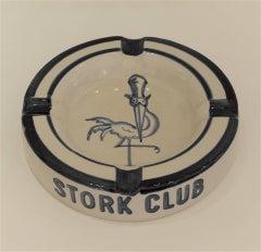Vintage Stork Club Stoneware Ashtray
