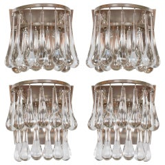 Pair Christoph Palme Teardrop Crystal Sconces ( 2 pairs avail)