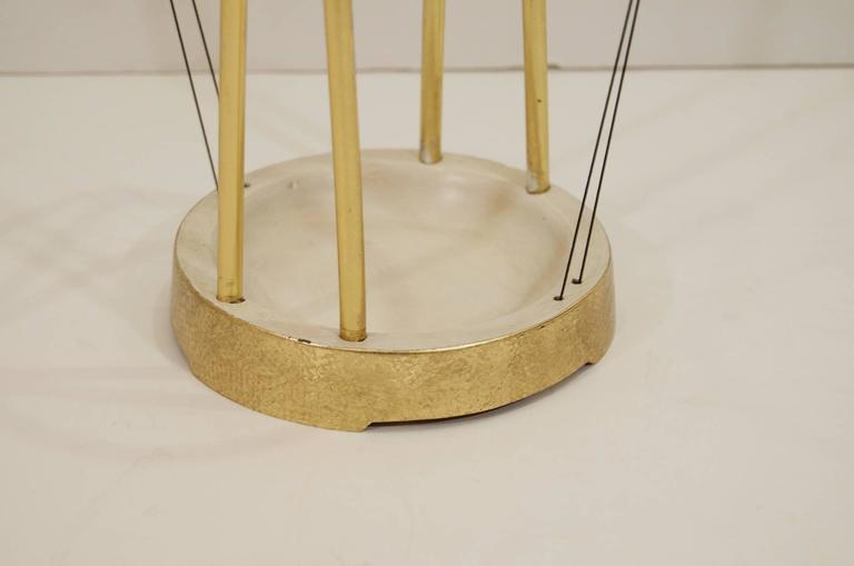 Gilt and Enameled Brass Cord-Wrapped Umbrella Stand 5