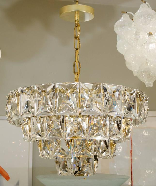 Grand Scale Gold Plate Kinkeldey Style Chandelier At 1stdibs
