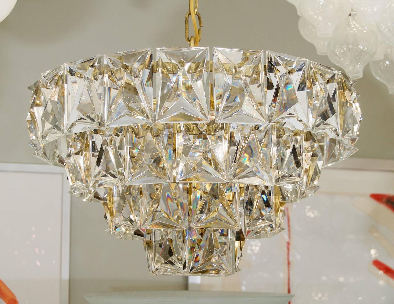 Grand Scale Gold Plate Kinkeldey Style Chandelier For Sale