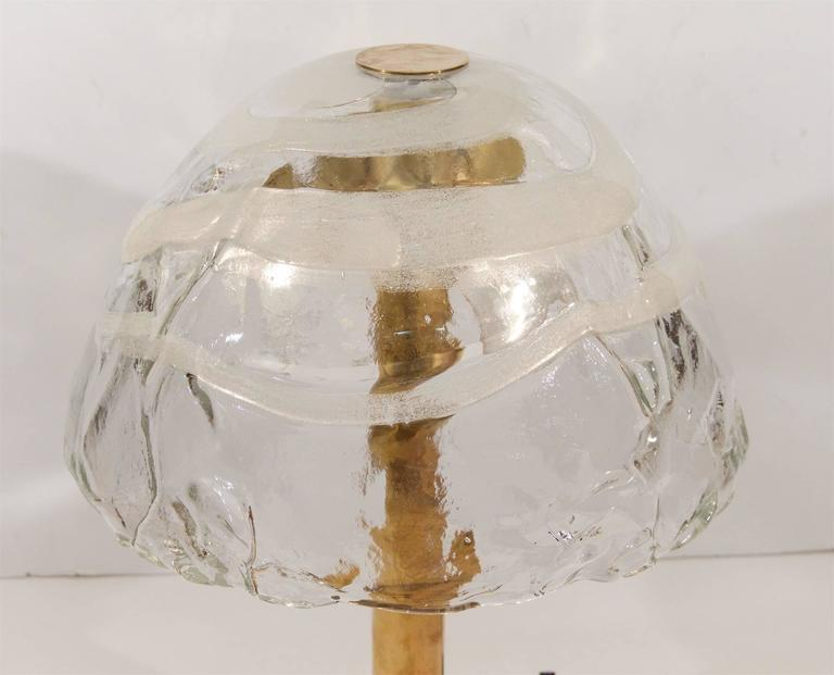 Austrian Kalmar Table Lamp with Massive Glass Shade For Sale
