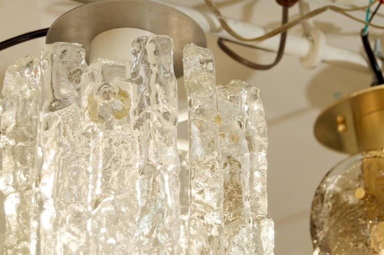 Enameled Petite Kalmar Ice Glass Flush Mounted Pendant For Sale