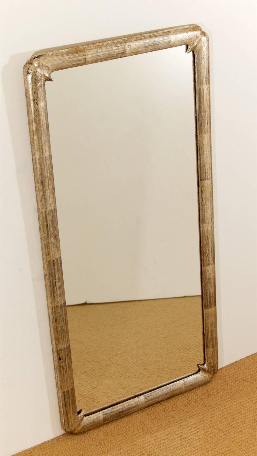 silver leaf framed mirror for sale at 1stdibs