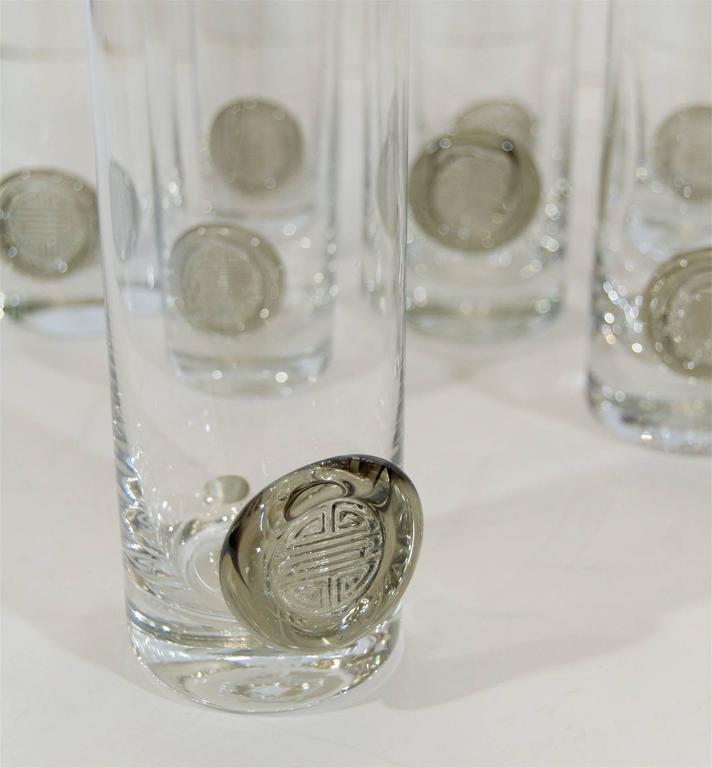 """Rosenthal """"Shou"""" Medallion Crystal Beer Glasses 5"""