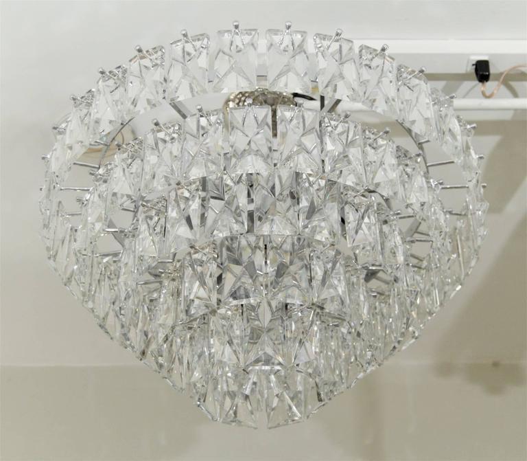 Massive Five-Tier Italian Crystal Chandelier 8