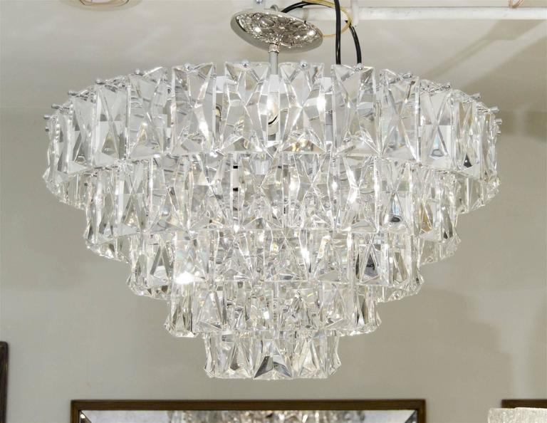 Massive Five-Tier Italian Crystal Chandelier 2