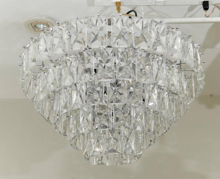 Massive Five-Tier Italian Crystal Chandelier 7