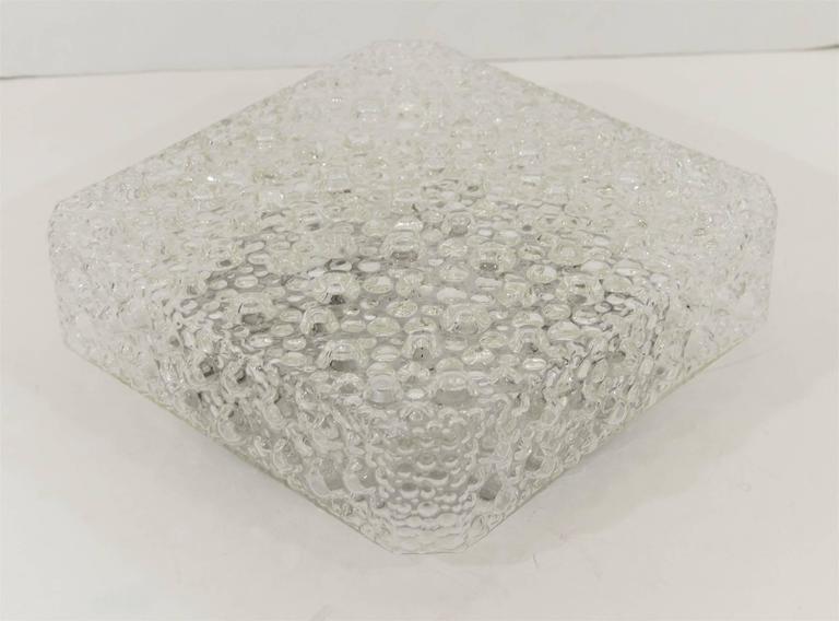 Square Bubble Textured Flush Mount 2