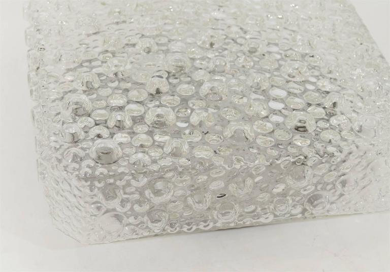 Square Bubble Textured Flush Mount 8