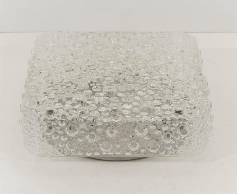 Square Bubble Textured Flush Mount 5